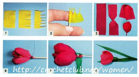 Цветы из гофрированной бумаги своими руками с конфетами