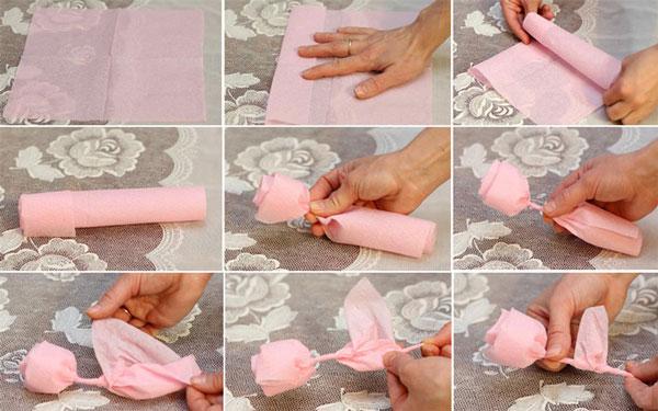 Поделки своими руками с инструкцией из салфеток