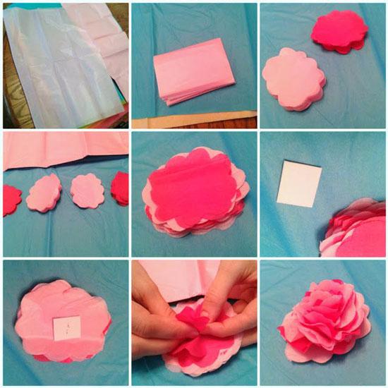 Как сделать бумажные цветы своими