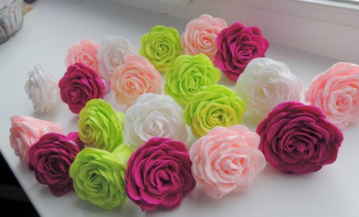Розы из оберточной бумаги своими руками 94