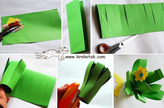 Букет из цветной бумаги своими руками