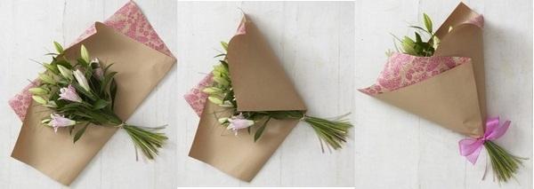 Как оформить букет из роз своими руками видео