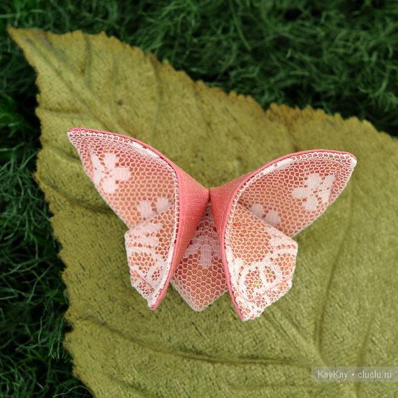 Бабочки из ткани своими руками мастер класс