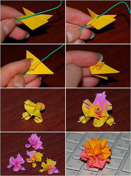 Как сделать красивые поделки из бумаги цветы