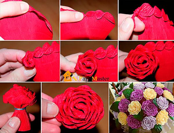 Цветки из бумаги видео
