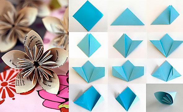 Оригами цветы из бумаги своими руками схемы