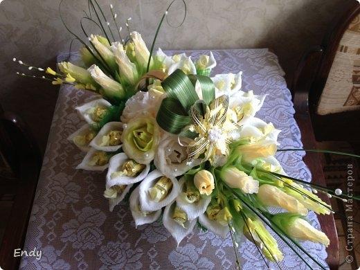 Из конфеты цветок мастер класс