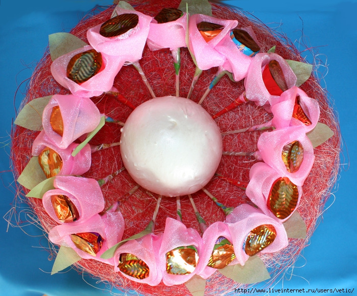 Каркас для букетов из конфет своими руками