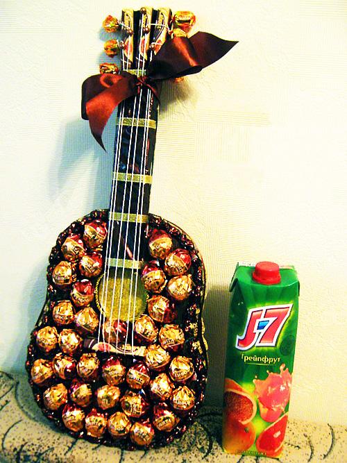 Гитара из конфет своими руками для начинающих