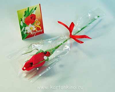 Роза из конфет своими руками фото