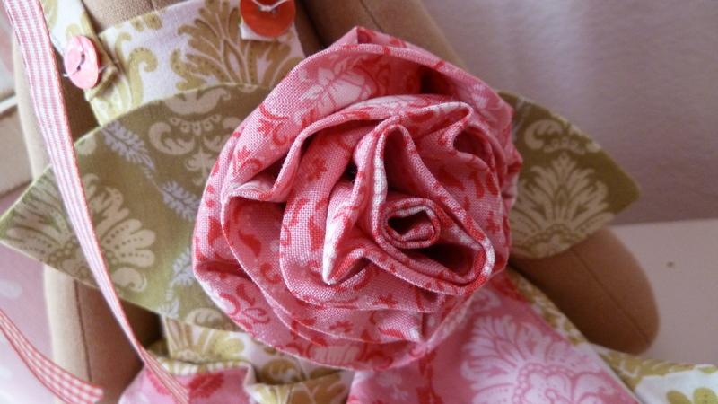 Розы большие из ткани фото 2