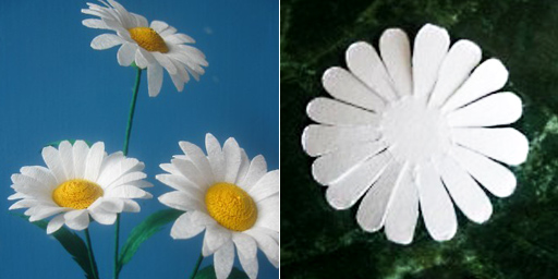 Цветы из гофрированной бумаги ромашки своими руками