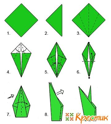 Как делать тюльпан своими руками