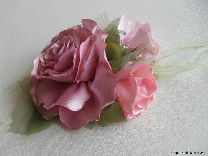 Изготовление искусственных цветов своими руками из ткани