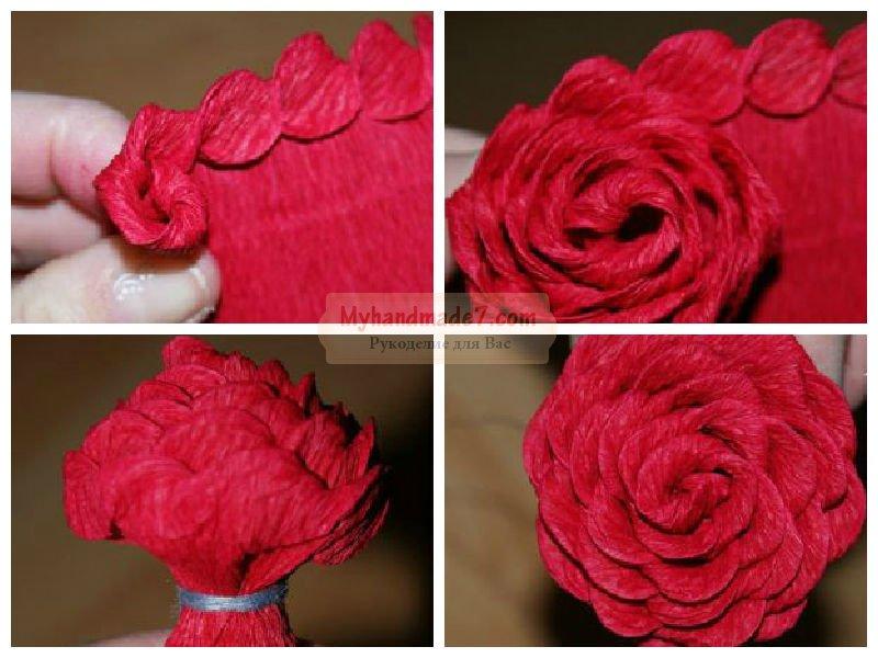 Сделать цветы из гофрированной бумаги своими руками