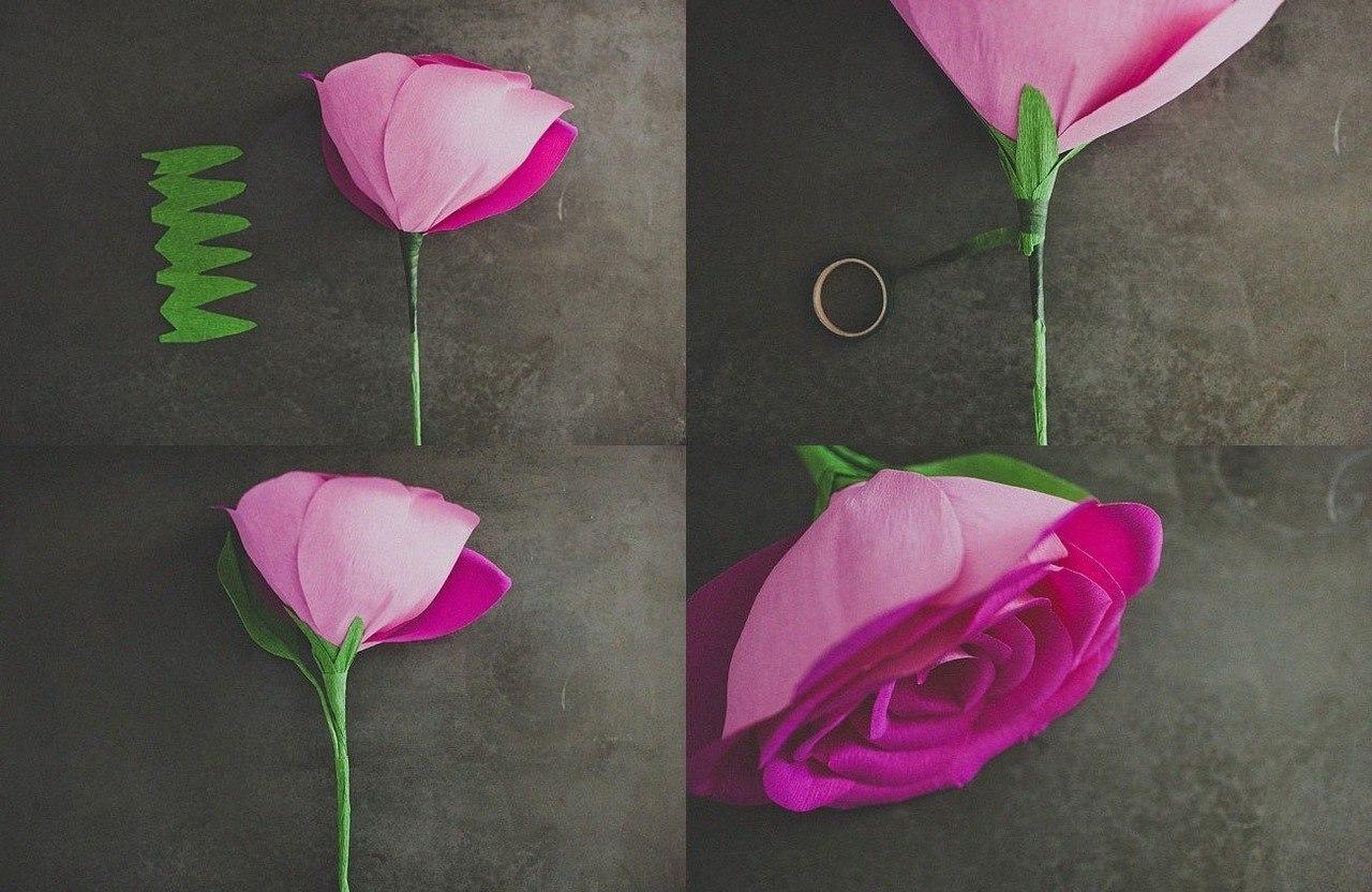 Поделки из бумаги своими руками цветы фото