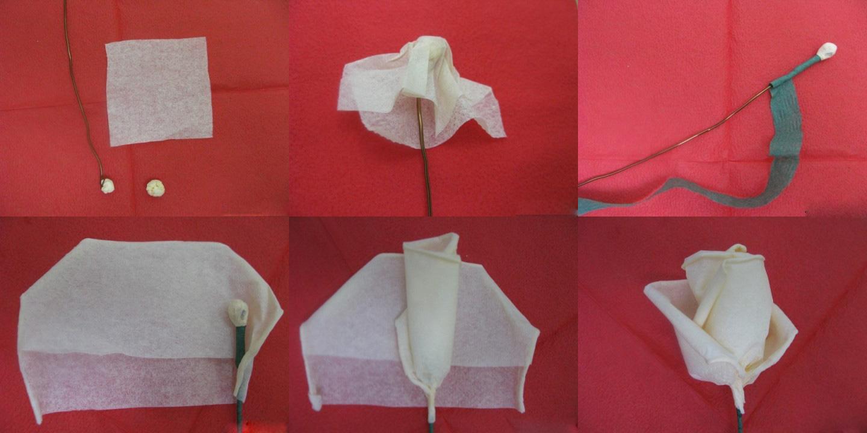 Как сделать розу из салфетки своими руками фото поэтапно
