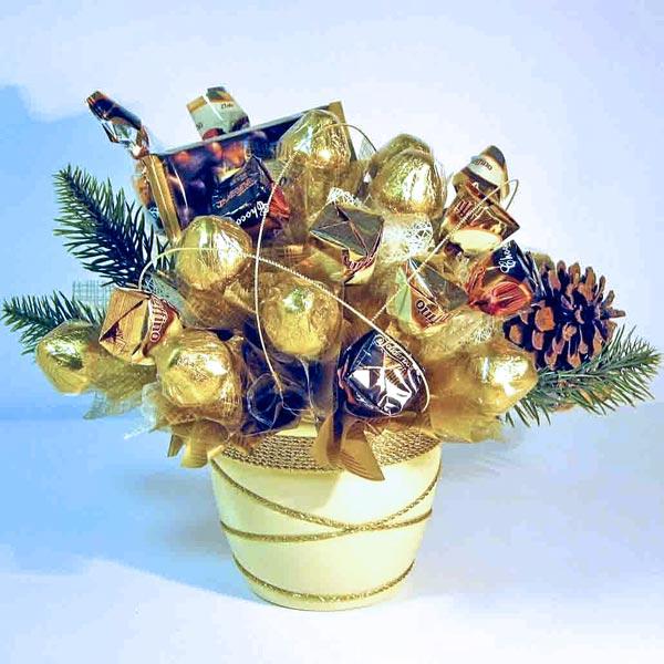 Букет из конфет своими руками новогодний