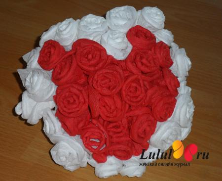 Цветы из салфеток своими руками букеты
