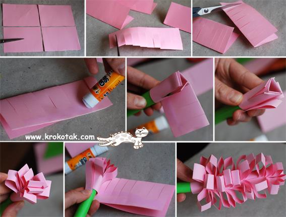 Как сделать из бумаги цветы своими руками легкие тюльпан