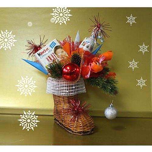 Новогодние сладкие композиции своими руками