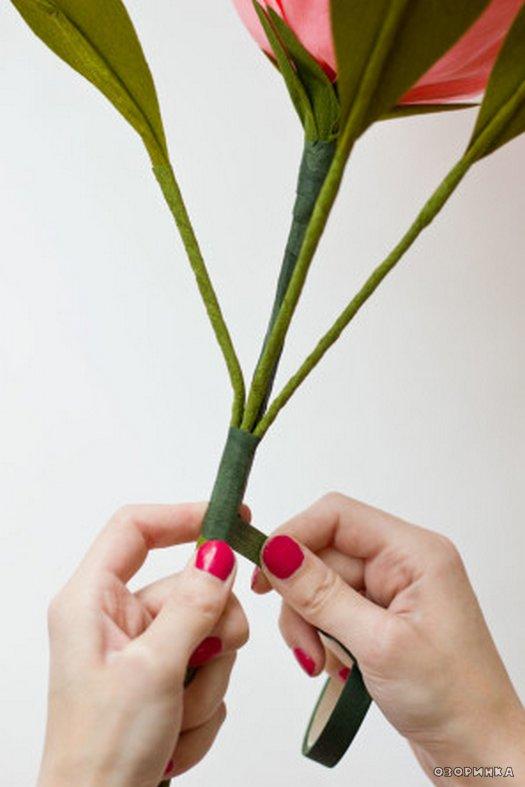 Цветы своими руками на стебле