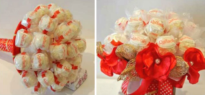 Корзинки с цветами и конфетами своими руками
