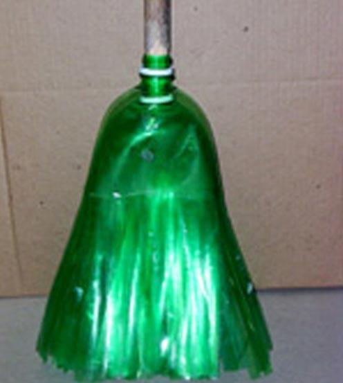Метла пластиковых бутылок своими руками